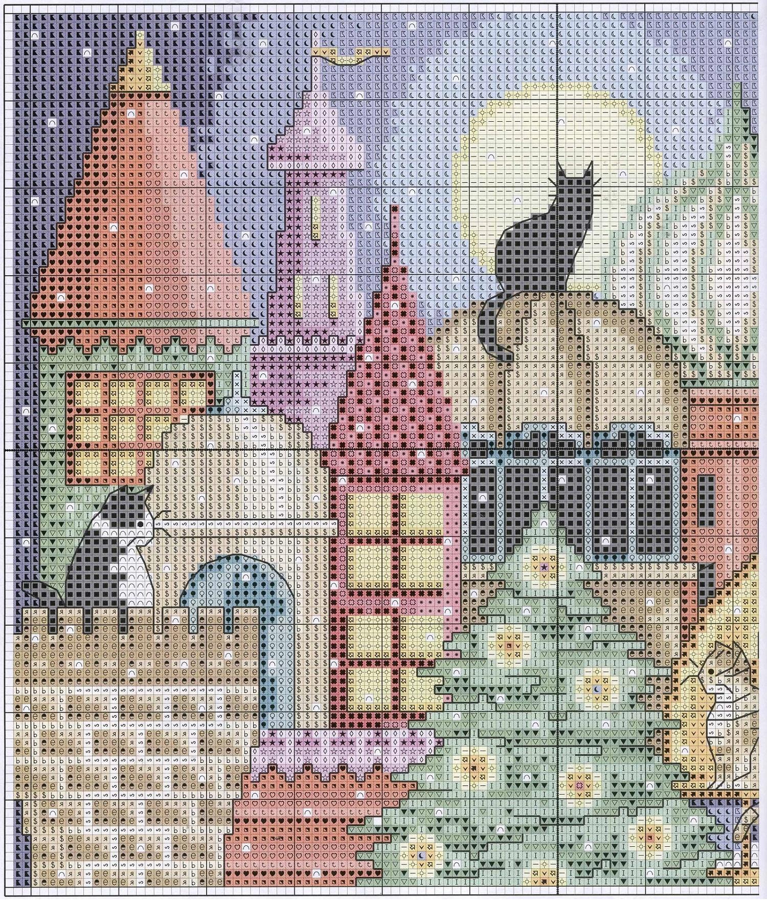 Free Cross Stitch Pattern City Of Cats Diy 100 Ideas
