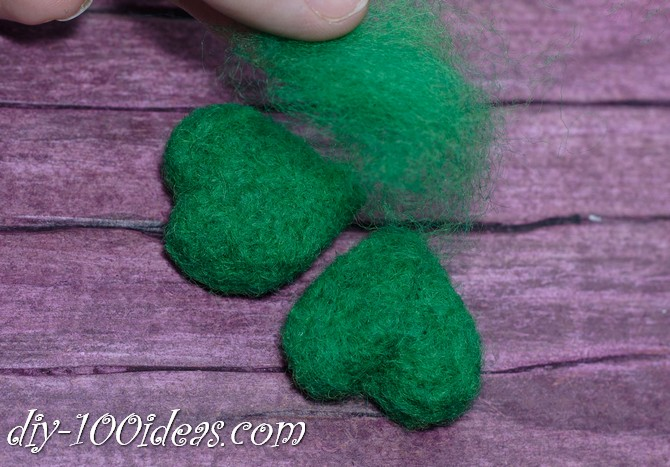 needle felted brooch four leaf clover (7)