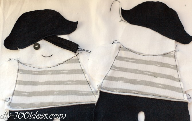 How to sew soft Pirate Doll (2)