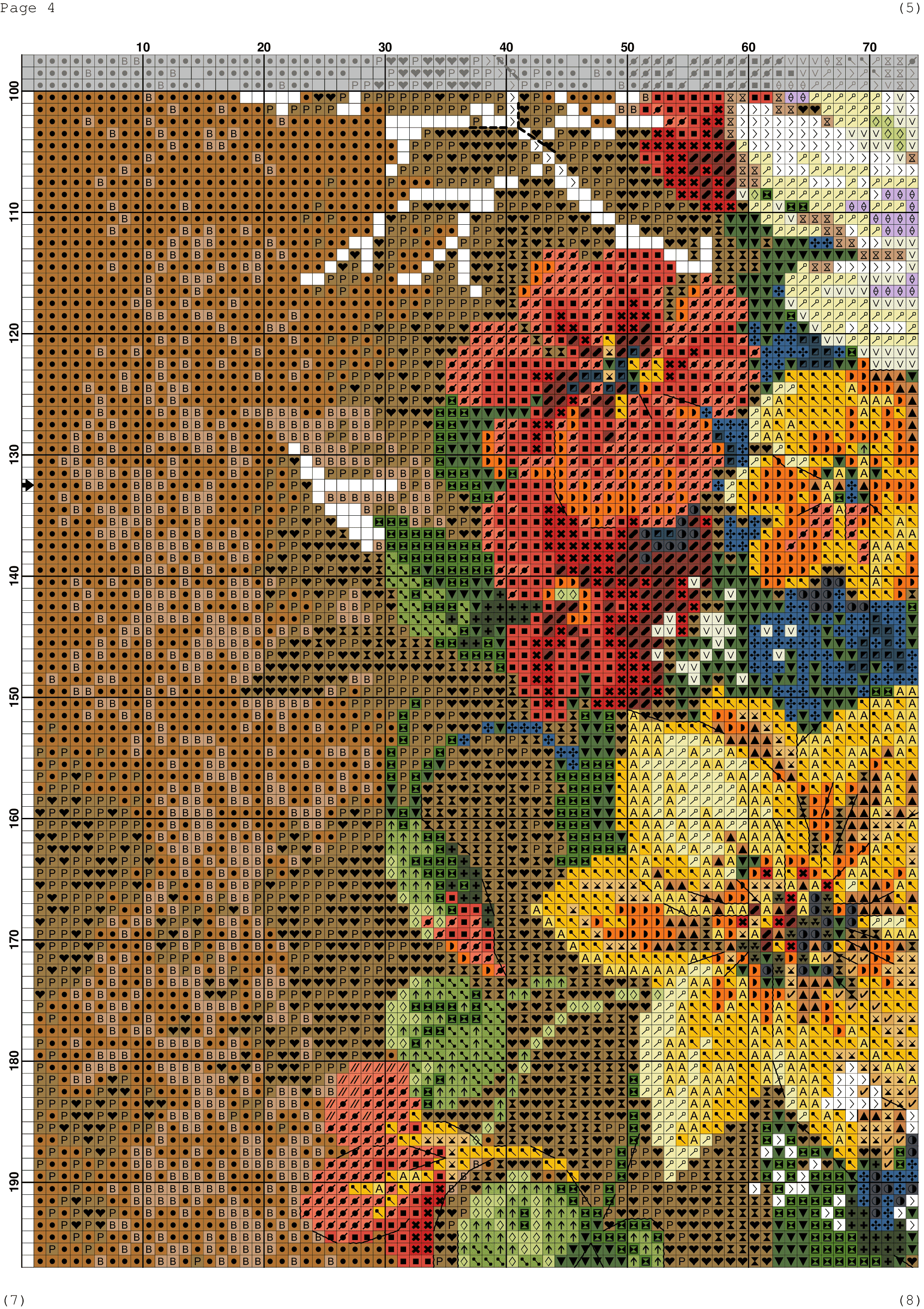 Wildflowers free cross stitch pattern | DIY 100 Ideas