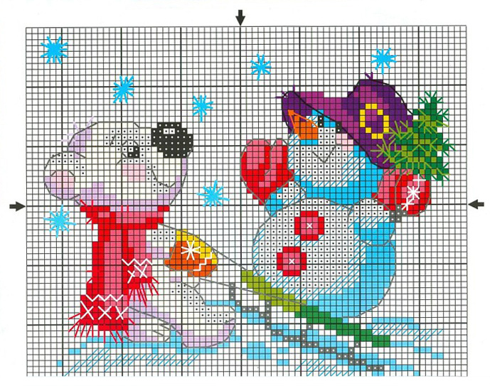free_cross_stitch_pattern_snowman-7