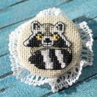 Cross stitch pattern Cute Raccoon
