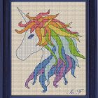 Free Cross Stitch Pattern Unicorn