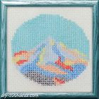 Free cross stitch pattern Abstract Mountain