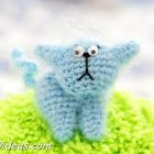 Free crochet pattern Cat brooch
