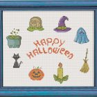 Free Cross Stitch Pattern Happy Halloween