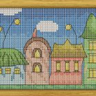 Cross Stitch Pattern Little Town