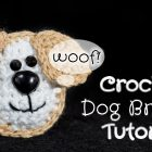 Crochet Dog Brooch