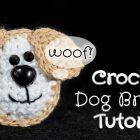 Crochet Dog Brooch
