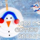 Kids Craft Cotton Pads Snowman