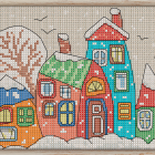Cross Stitch Pattern Winter Houses