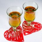 DIY Hot Glue Heart Tea Coaster