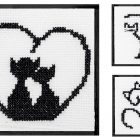 Free Cross Stitch Pattern Cats Silhouettes
