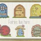 Cross Stitch Pattern Fairy Doors