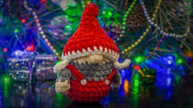 crochet amigurumi gnome