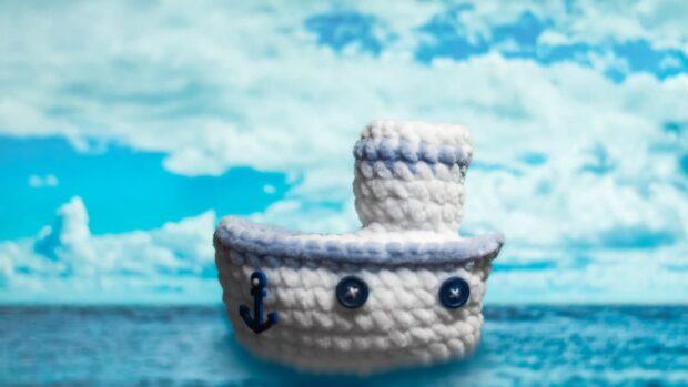 crochet sea ship
